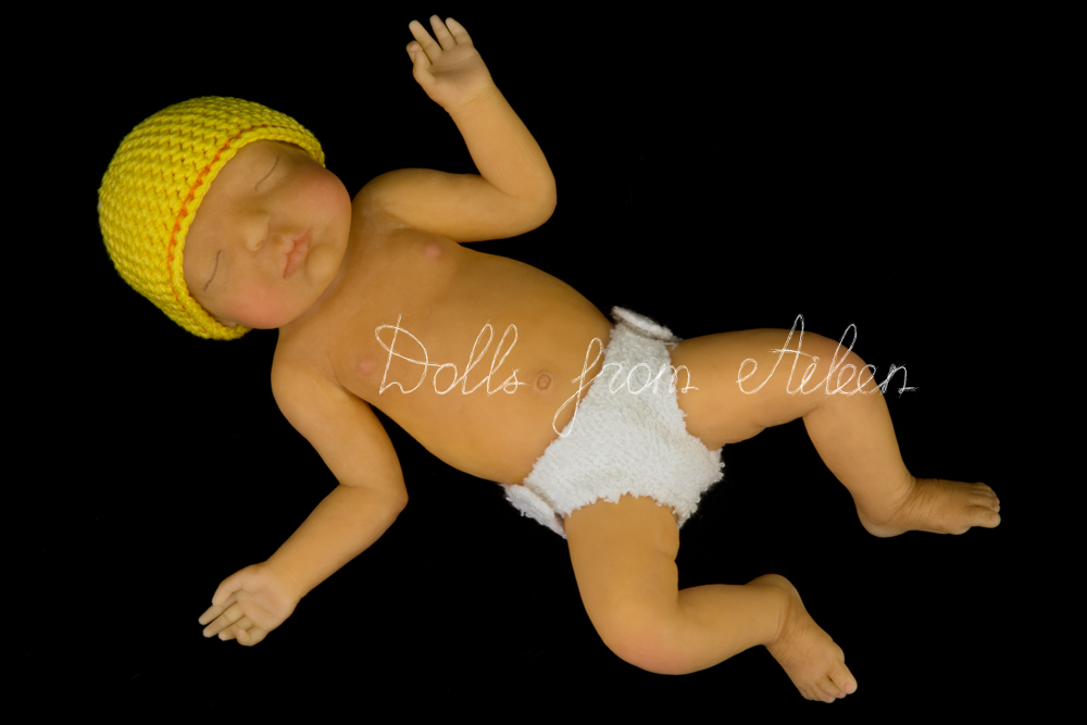ooak anatomically correct sleeping baby boy doll