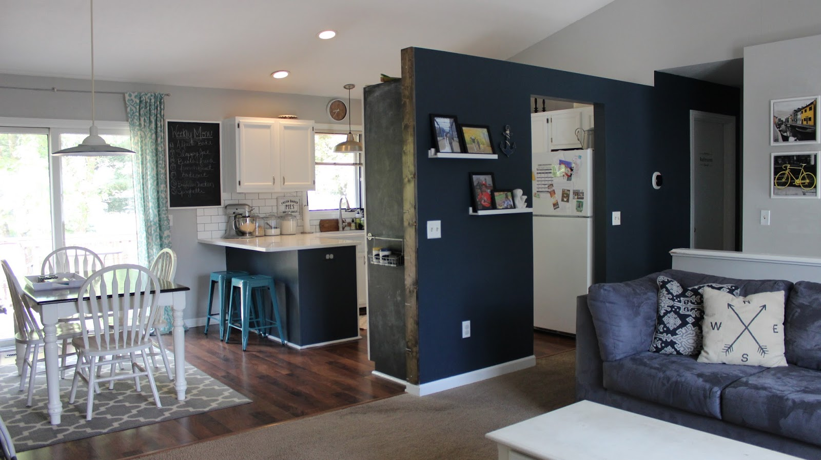 (That Tiny Cabinet Where The Chalkboard Is, Thatu0027s The Pantry!)