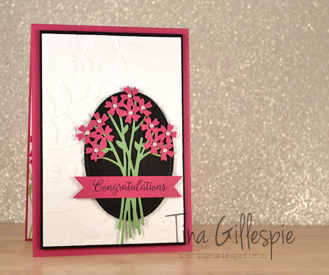 scissorspapercard, Stampin' Up!, CASE, Beautiful Bouquet, Layered Leaves, Bouquet Bunch, Stitched Shapes