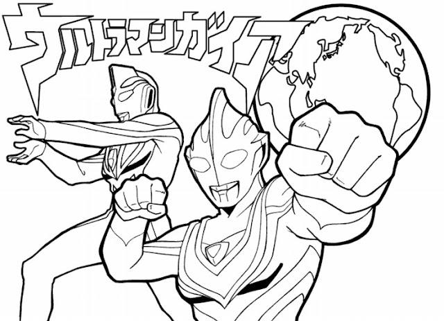 Gambar Mewarnai Ultraman