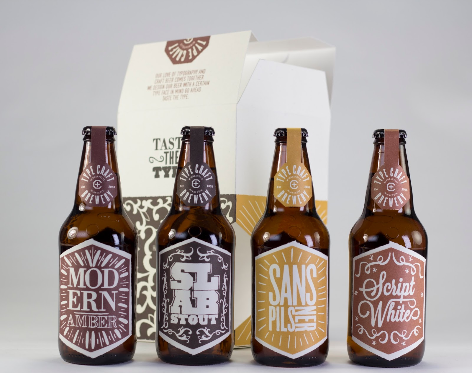 Type Craft Brewery Concept On Packaging Of The World