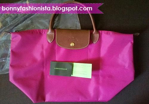 04c4379b2758 Bonny Fashionista  Online Purchase  The FAKE Longchamp Le Pliage