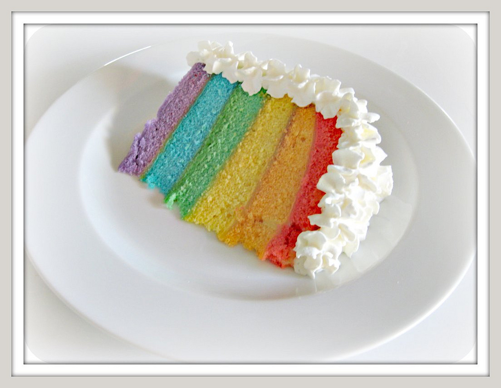 Cake Recipes Rainbow: Pinks & Needles: Rainbow Layer Cake Recipe