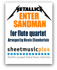 Metallica's Enter Sandman for Beatboxing Flute Quartet