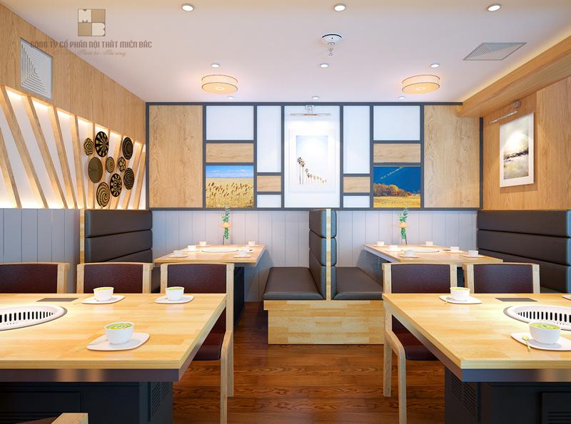 Mẫu thiết kế nhà hàng hiện đại của Miền Bắc