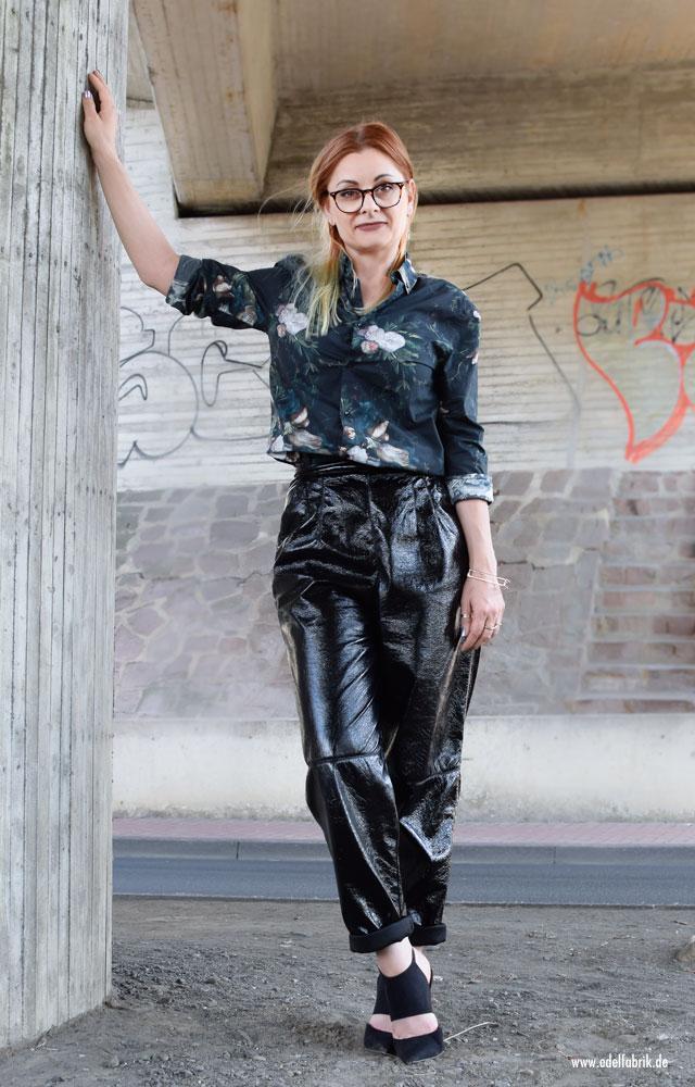 Lacklederhose von H&M, wie trage ich Lackleder im Alltag
