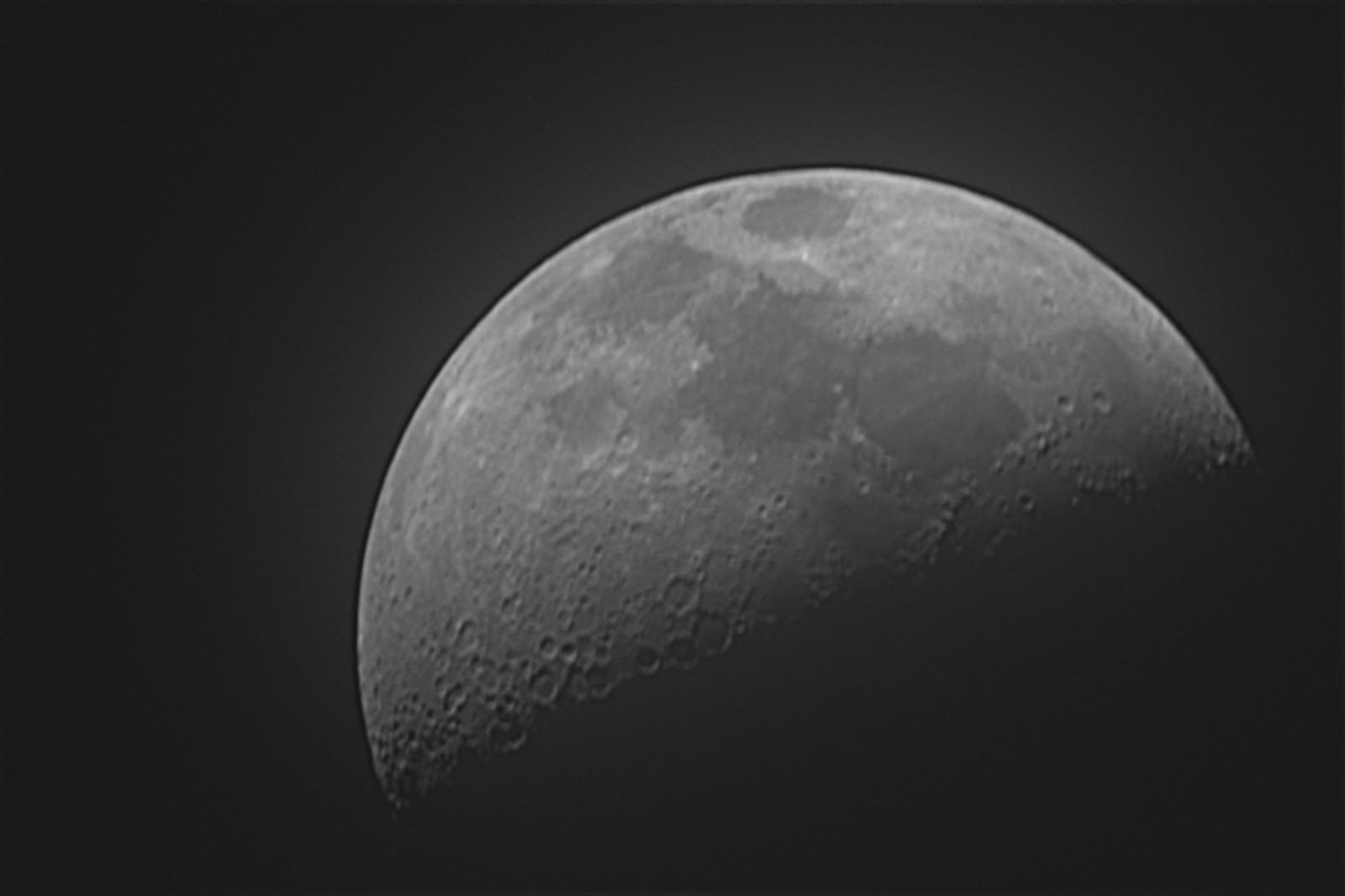 Luna en cuarto creciente sobre Durango - Vega 0.0