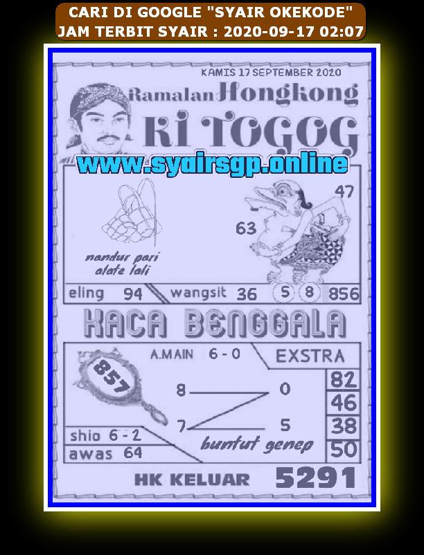 Kode syair Hongkong Kamis 17 September 2020 171