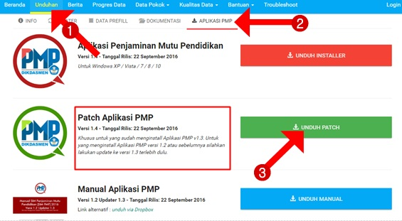 Cara Termudah Update Aplikasi PMP Versi 1.3 ke Versi 1.4