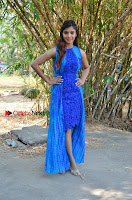 Tamil Actress Sanchita Shetty Latest Pos in Blue Dress at Yenda Thalaiyila Yenna Vekkala Audio Launch  0024.jpg