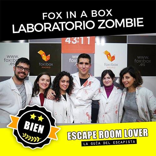 Fox in a Box - Laboratorio zombie - Escape Room - Opiniones
