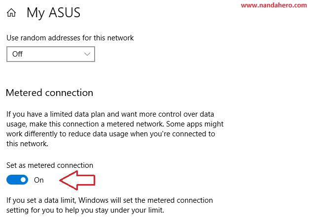 Menghemat Kuota Internet di Windows 10 dengan Mengaktifkan Metered Connection