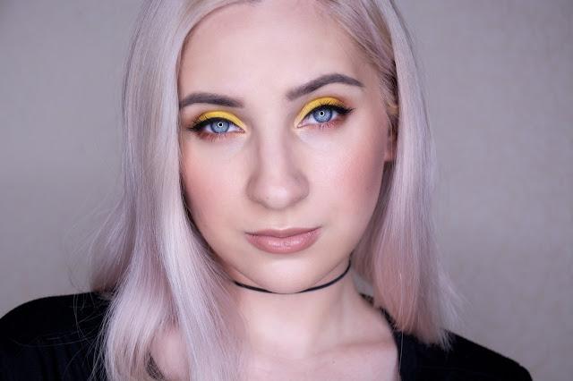 yellow eyeshadow makeup look