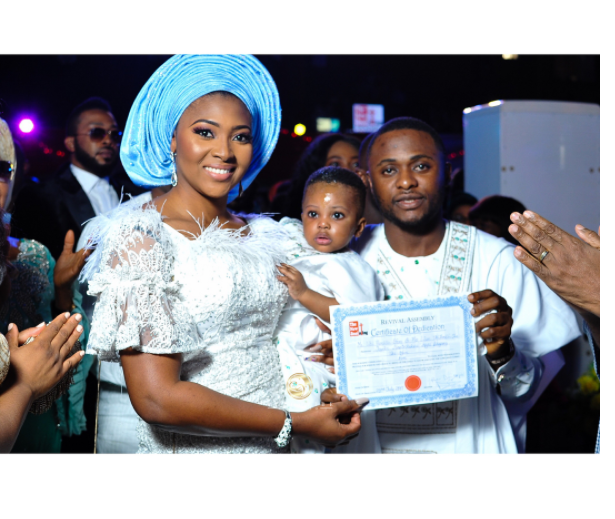 Lilian Esoro, Ubi Franklin at baby jayden's birthday
