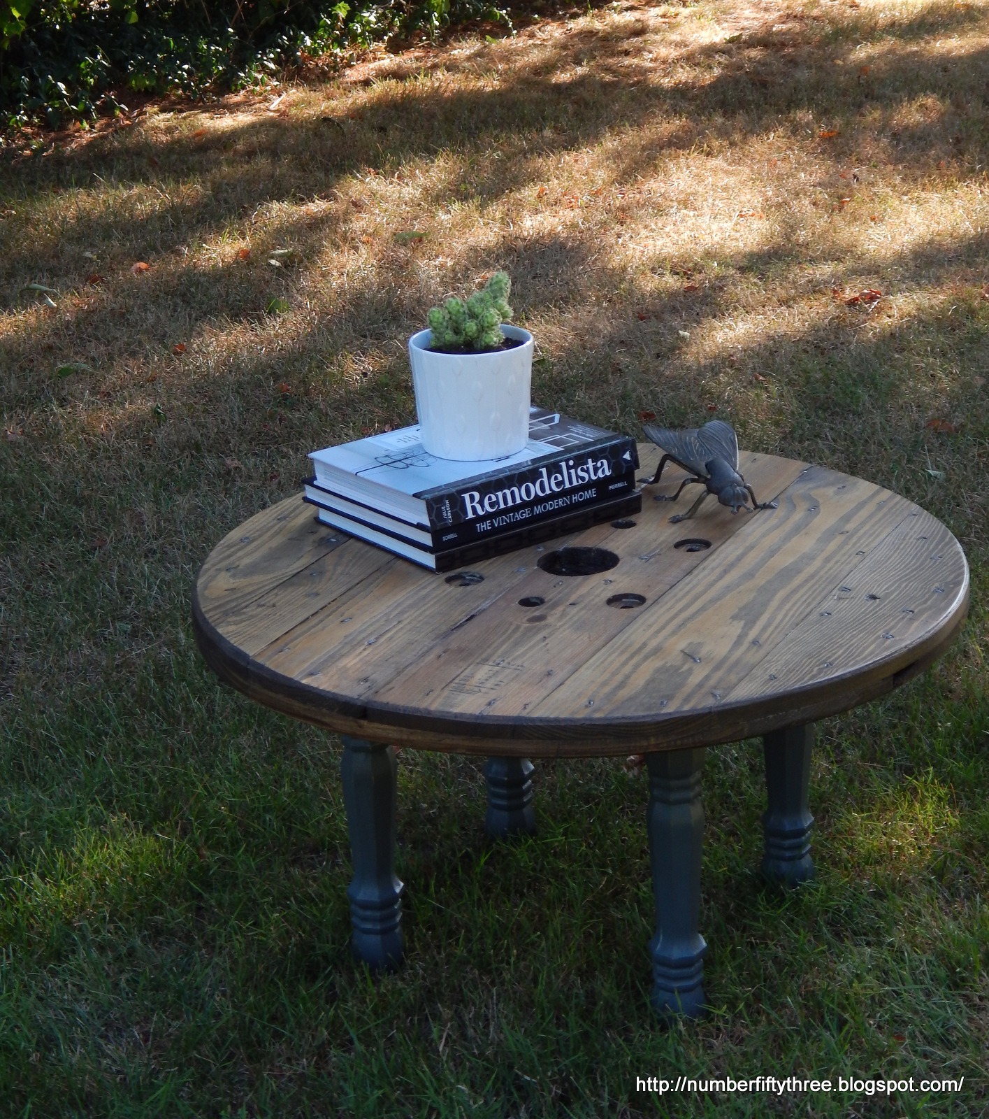 We Recently Happened Upon Some Wooden Spool Tops And I Thought This Would  Be A Great Opportunity For Us To Dabble In Creating Some Tables Sell (and  ...