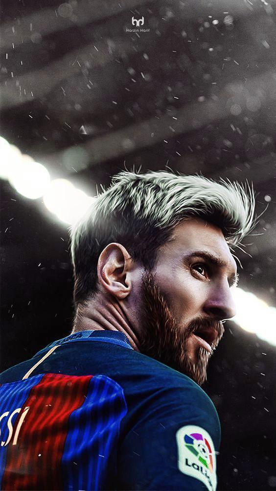 gaya rambut Leonel Messi pemain sepak bola barcelona