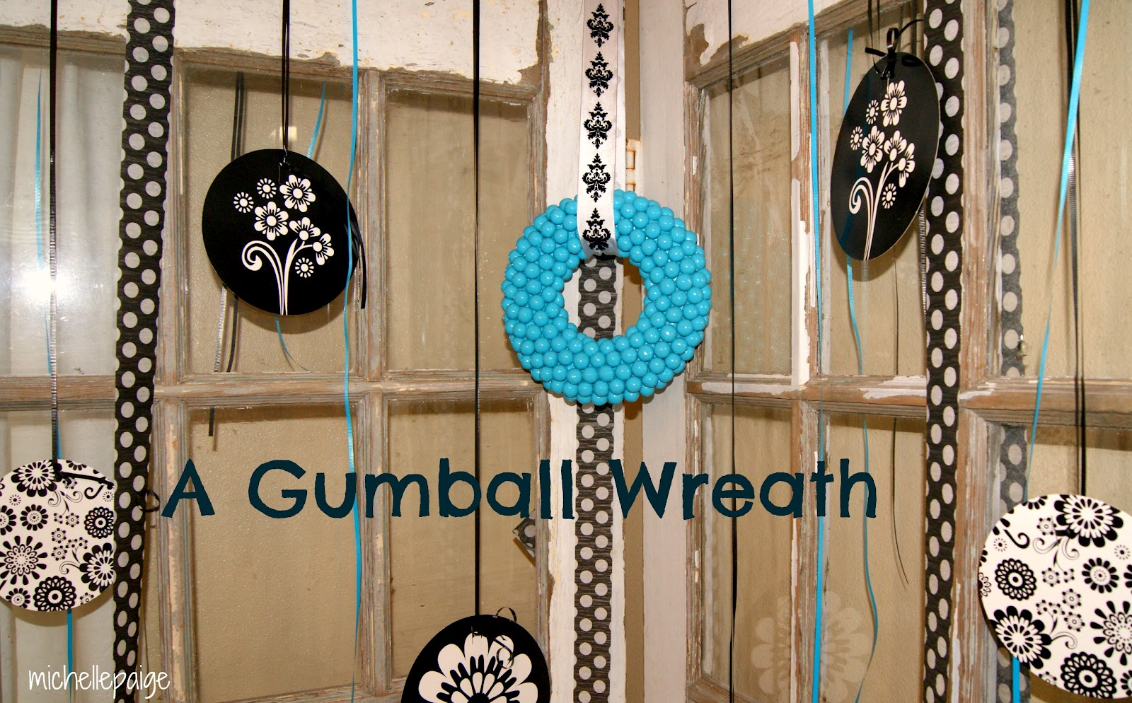 michelle paige blogs: Gumball Wreath