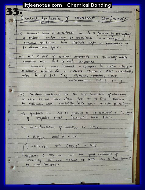 Chemical Bonding Notes IITJEE 9