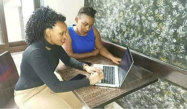 Ladies with a laptop