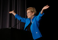 Sen. Elizabeth Warren introduced the Climate Risk Disclosure Act on Friday. (Credit: Boston Globe via Getty Images) Click to Enlarge.
