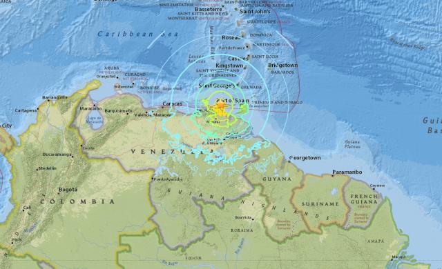 Servicio Geológico de EEUU informó que un sismo de 7.3 sacudió Venezuela