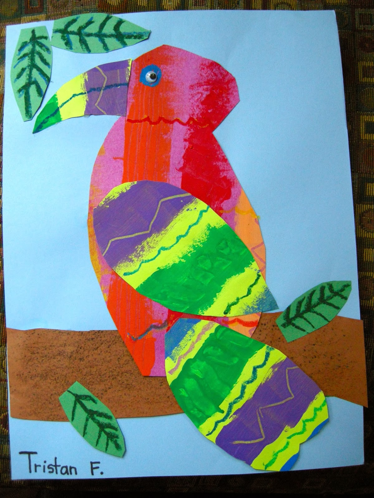 Zilker Elementary Art Class 1st Amp 2nd Grade Eric Carle Collages