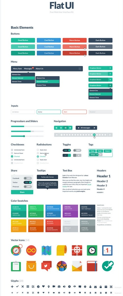 UI Kits for Web Design Free HTML5/CSS3 - دروس4يو Dros4U