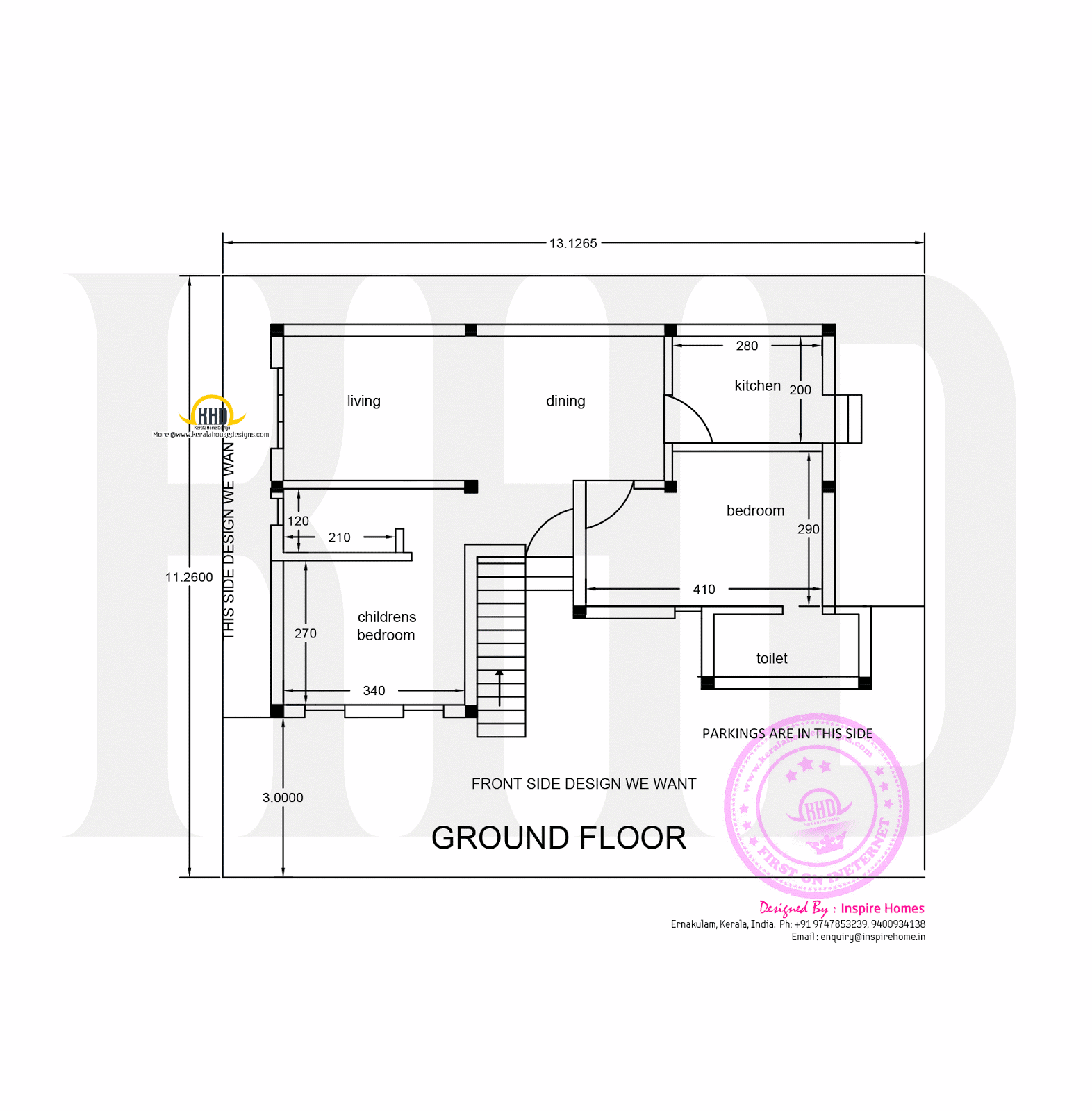 Contemporary three storied residential building kerala Ground floor house plan