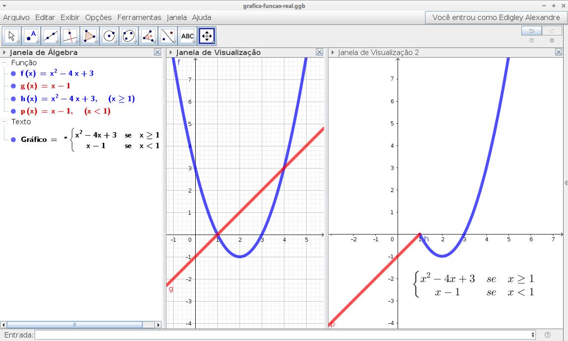 Construir gráficos de funções definidas em reais usando o comando SE do GeoGebra [vídeo]