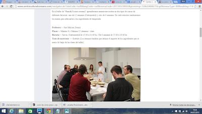 Curso cocina gratis Madrid.