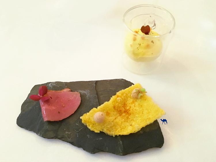 Le Chameau Bleu - Amuse bouche de Neige D'été Restaurant étoilé Paris - Fusion gastronomie française et japonaise