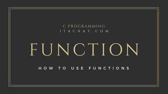 Function in C Programming