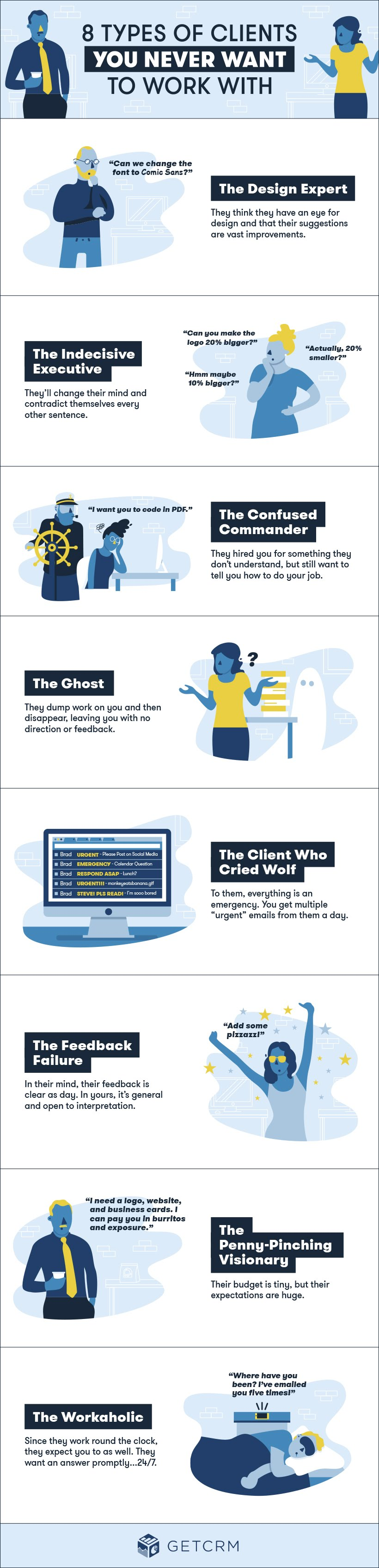 8 Types of Clients You Never Want to Work With - #Infographic