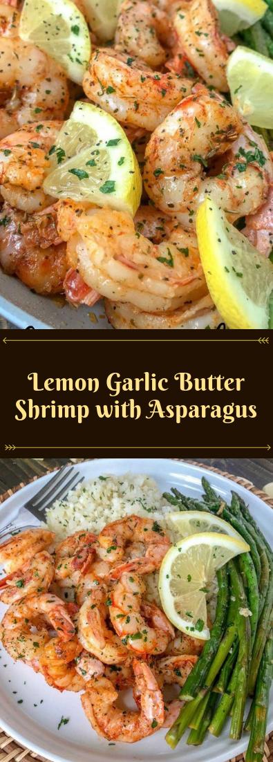 Lemon Garlic Butter Shrimp with Asparagus #dinnerrecipe #amazingrecipe