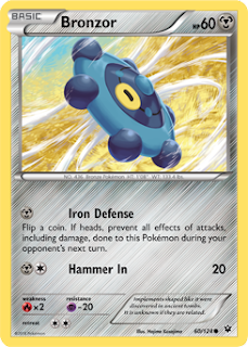 Bronzor Fates Collide Pokemon Card