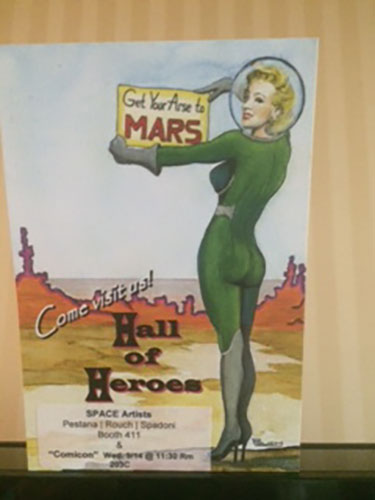 Poster depicts sci-fi genre conception of Mars