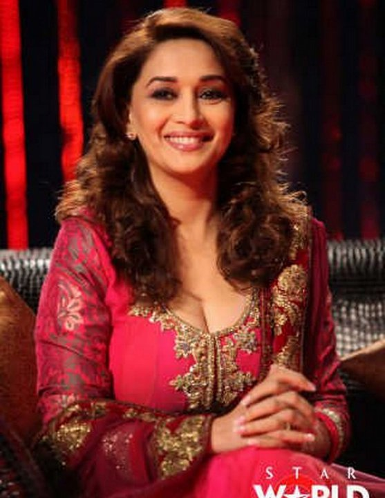 Madhuri Dixit Hot Photos In Red Dress  Bollywood -8549