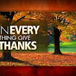 It all begins with giving thanks to God