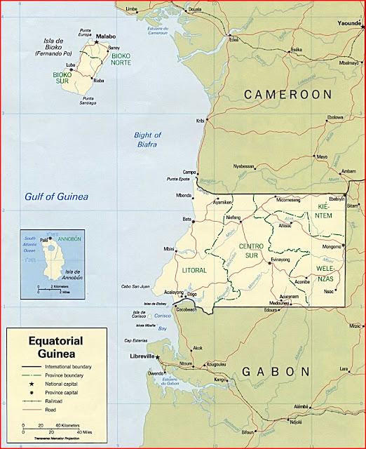 Gambar Peta politik Guinea Khatulistiwa