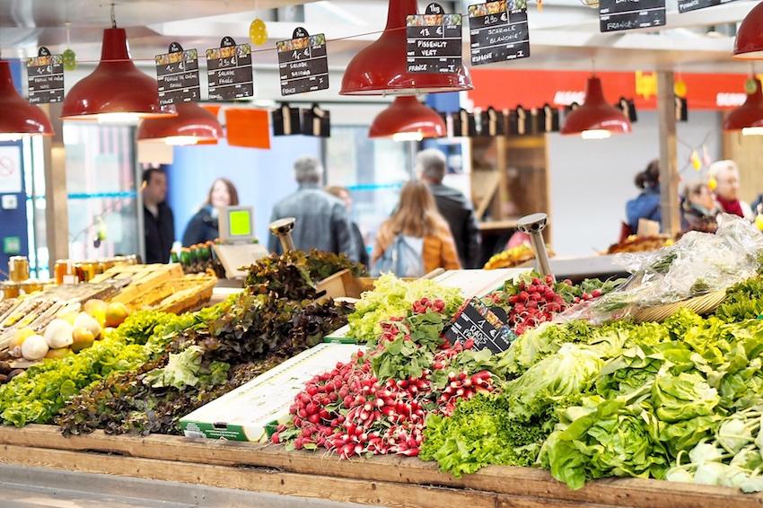 Große Auswahl in der Markthalle Krutenau