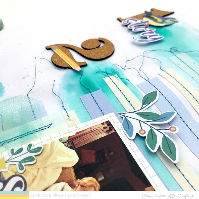 Citrus Twist Kits Life Chapters 12 x 12 Scrapbook Layout - Lydia Cost