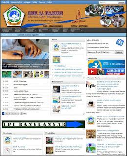 Template Blog Sekolah, Template Blogspot untuk Blog Sekolah, Template blog pendidikan, Template Web Sekolah, Web Pendidikan, Script Web Sekolah
