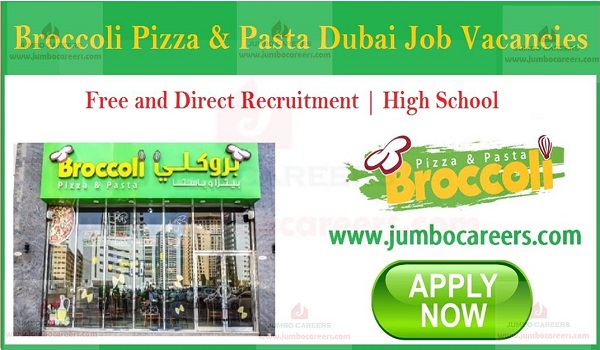 Gulf walk in interview jobs with salary, Restaurant job openings in Dubai,