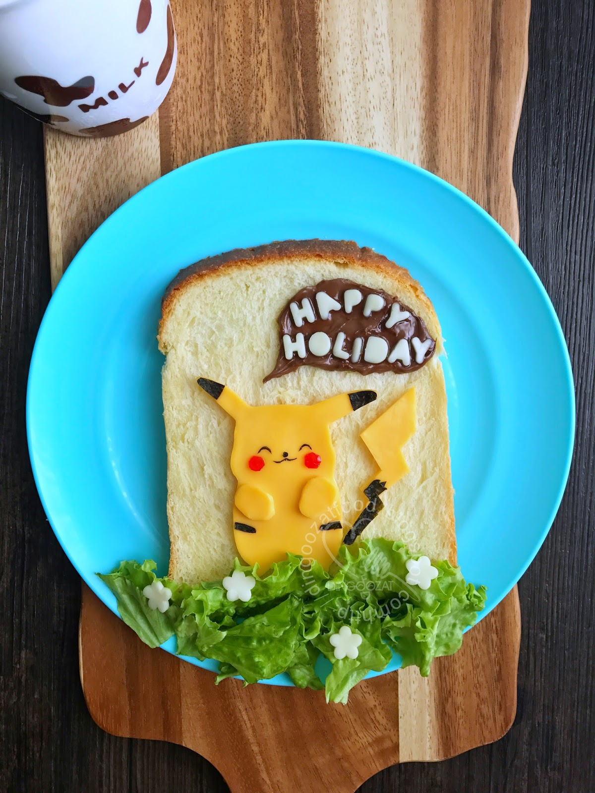 Miki's Food Archives : Pikachu Breakfast Cheese Sandwich ...