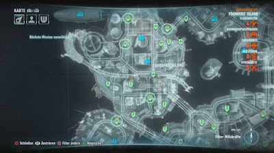 Batman Arkham Knight, Campaign For Disarmament, Founders' Island, Bomb Locations map