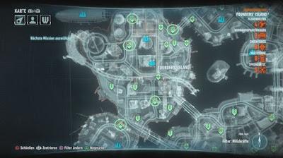 Batman Arkham Knight, Campaign For Disarmament, Founders' Island, Bomb Locations map