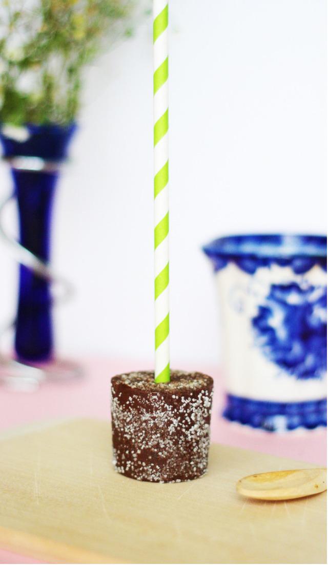 Geschenk aus der Kueche - Trinkschokolade am Stiel