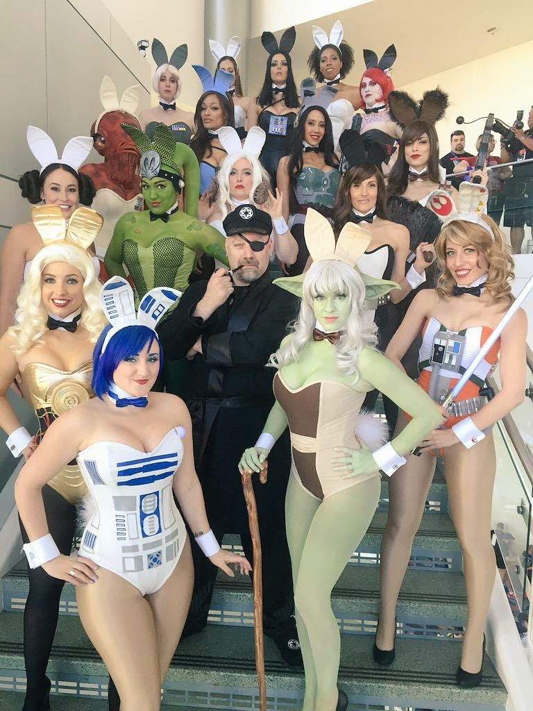 playboy bunnies as star wars
