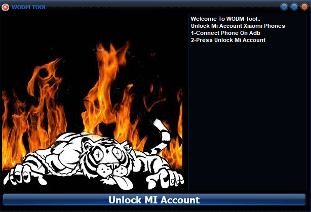 WODM TOOL Unlock Mi Account