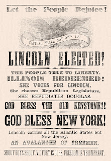 An Illinois 1860 ad on President Lincoln's electoral victory.